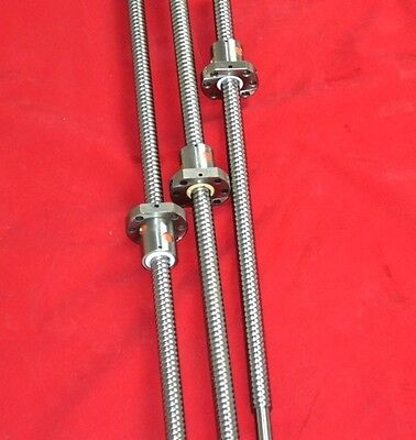 3 anti backlash 16mm ballscrew RM1605-550/650/650mm-C7 end machined+ball nut CNC