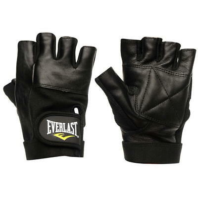Everlast Gym Training Gloves Leather Fitness Workout Weight Lifting M L XL Sizes