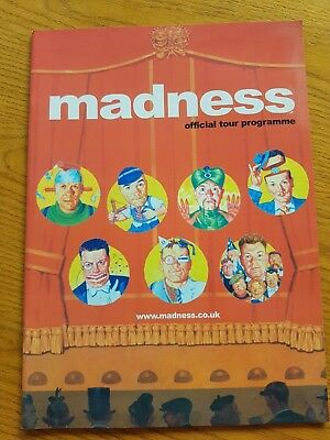Two Madness Concert Programmes - 1999 and 2002