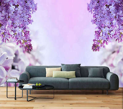 Twinkling Lavender 3D Full Wall Mural Photo Wallpaper Printing Home Kids Decor