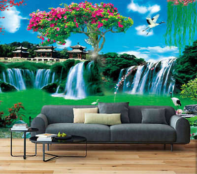 Lofty Green Mountain 3D Full Wall Mural Photo Wallpaper Printing Home Kids Decor