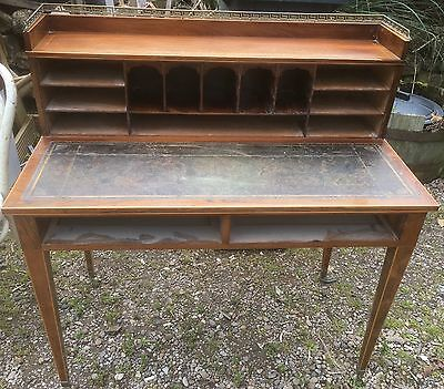 Superb Edwardian inlaid ladies rosewood desk for restoration