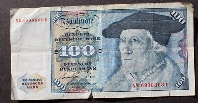 Vtg 1977 100 MARK DEUTSCHE BUNDESBANK BankNote