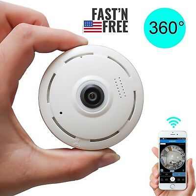 360 degree Mini Smart WIFI Panoramic IP Camera Wireless Home Security 1080P HD