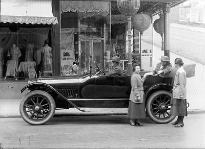 HAYNES TOURING CAR - CHINATOWN, SAN FRANCISCO - 5x7 Glass Negative 1919