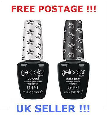 OPI Gel nail color TOP Coat & BASE Coat Big Bottles 2x 15ml !!! OFFER PRICE!!!!