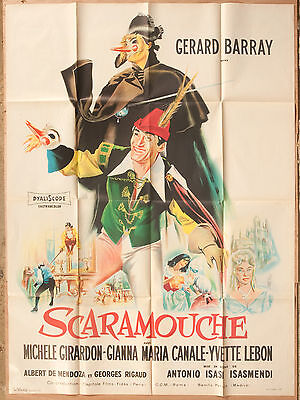 "'SCARAMOUCHE' FRENCH VINTAGE 1963 CINEMA POSTER  63"" x 47"""