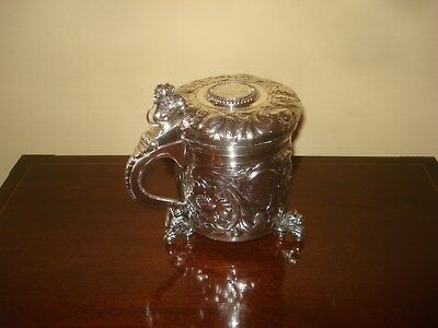 1853 Danish Silver Lided Tankard Outstanding Craftsmanship