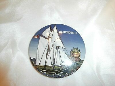 Rare Bluenose II Visit to Quebec City - Chateau Frontenac Macaroon Badge