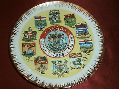 Vtg Canada Coat of Arms & Emblems Kitsch Hanging Plate