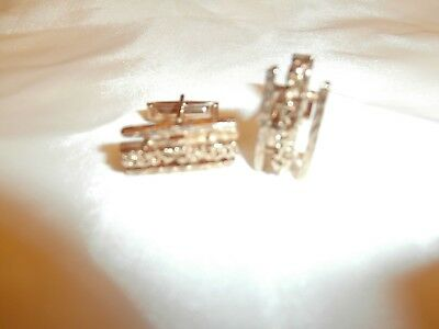 Vtg Mid Century Modernist Brutalist Art Golden Cufflinks - Unmarked