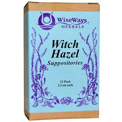 LLC, Witch Hazel Suppositories, 12 Pack, 2.5 ml Each, WiseWays Herbals