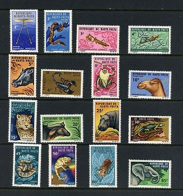Burkina Faso 1966  #146-61  fauna monkeys snakes insects  16v.  MNH  L128