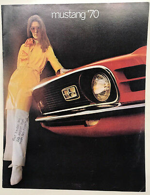 1970 Ford Mustang Catalog/Brochure