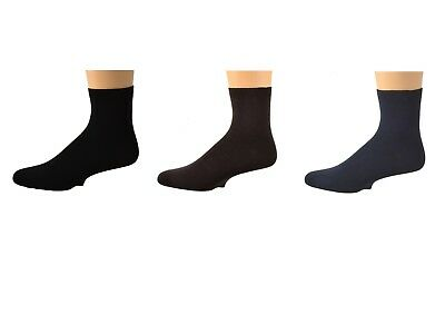 Sierra Socks Men's Plain Bamboo Shorty Seamless Toe Socks SMPLAIN