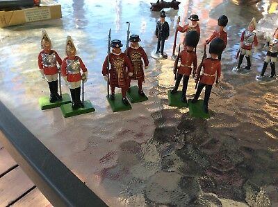 lot of six Britain's toy soldiers handpainted  and five other toy soldiers