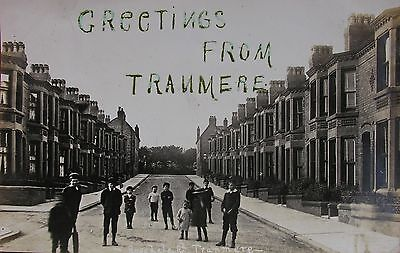 Greetings From Rosedale Road Tranmere Birkenhead Cheshire 1906 Rp Pc