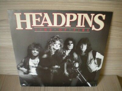 The Headpins - Lp - Line Of Fire - 1983 -( Ex. Chilliwack )