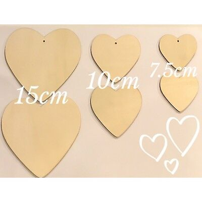 Wooden Heart shapes, Wedding, Craft, Embellishments, Plaques