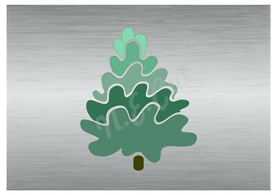 Christmas Tree stencil A5 A4 A3 A2 A1 A0 14cm to 1.2 meters or bigger CMAS012