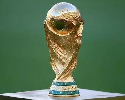 World Football Soccer Trophy Cup Full size 36 Cm