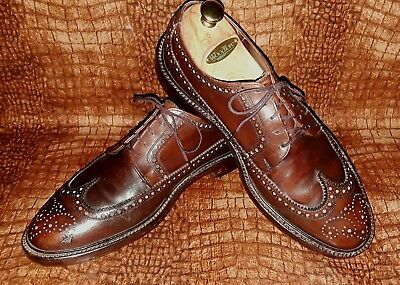11D VTG ALL-Leather CLASSIC Heavy-Duty FLORSHEIM Longwing Wingtip Brown SHOES