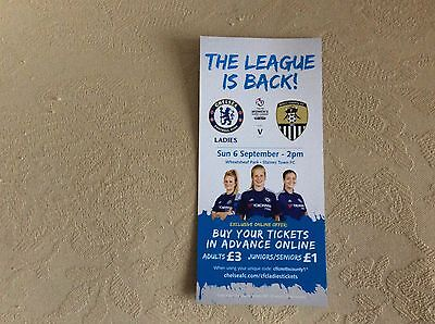 Chelsea Ladies v Notts County Ladies 2015 WSL Colour Flyer