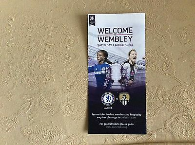 Chelsea Ladies v Notts County Ladies 2015 FA CUP FINAL small colour flyer