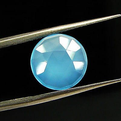 2.25 Ct Natural Blue Chalcedony Loose Faceted Gemstone Beautiful Stone - 10768