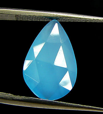 2.80 Ct Natural Blue Chalcedony Loose Faceted Gemstone Beautiful Stone - 10830