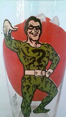 Vintage 1976 Riddler (From Batman) Pepsi Super Series Glass Cup DC Comic Villain