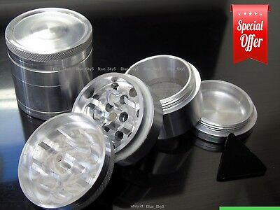 4 Part Herb Grinder Aluminium Metal Polinator 44Mm  - Top Quality
