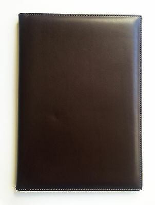 HERO travel document ticket holder dark brown leather 25.8cm x 18cm x 1.4cm