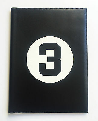 BAMFORD & SONS racing car number 3 black leather document holder