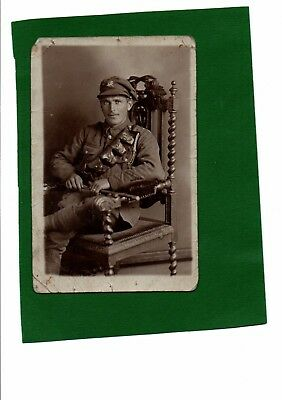WW1 Real Photo Postcard Soldier of Duke of Wellington's West Riding Regiment