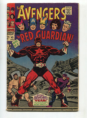 1967 Marvel Avengers #43 1St Appearance The Red Guardian Very Good-