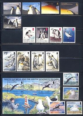 South Georgia mnh vf sets, sheet with mostly penguins and some sea birds  71.50