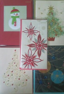 New papyrus brand christmas theme holiday greeting cards 5 style papyrus brand handcrafted greeting cards christmas holiday theme bundle of 5 m4hsunfo