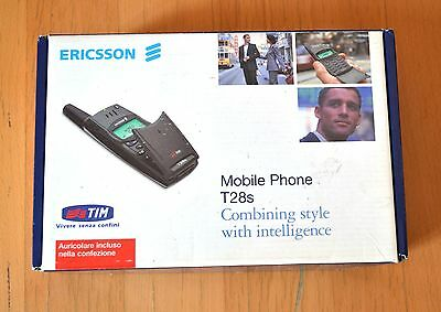 Cellulare Ericsson T28s w accessories boxed vintage cellphone working NO BATTERY