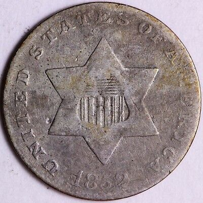 1852 3 Cent Silver R6KNT