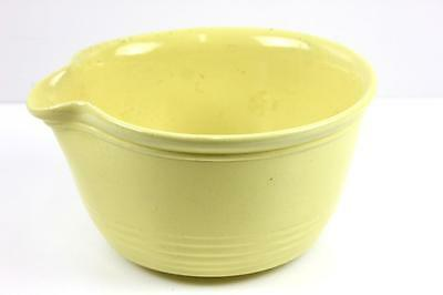 Vintage Bakewells Sydney Mixing Bowl With Pouring Lip Large Yellow Bowl