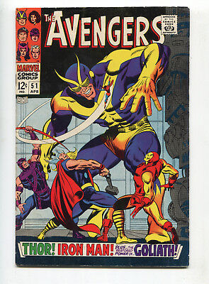 1968 Marvel Avengers #51 The Collector Goliath Fine