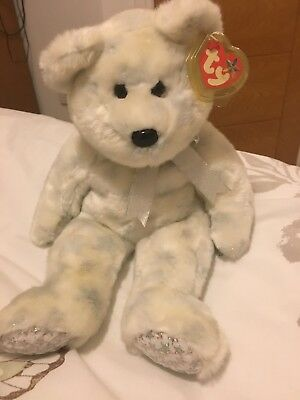 Ty Beanie Buddy The Beginning Bear With Tag