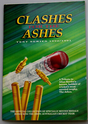 Cricket Clashes For Ashes 1990/91 Medal Collection Complete   Rare