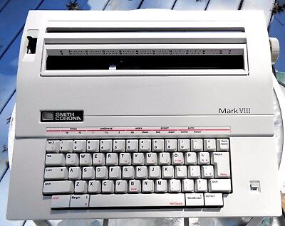 Smith Corona Mark VIII Electric Typewriter with New Tape & Ribbon VGC