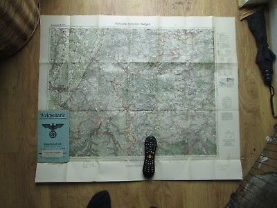 100% Original Large WW2 German Reich Army Map Document - Wehrmacht