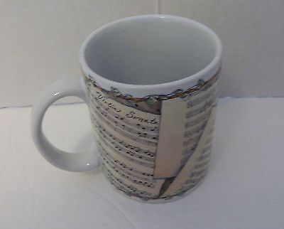 Lang and Wise Collector Coffee Cup Mug Musical Notes by Susan Winget 2000