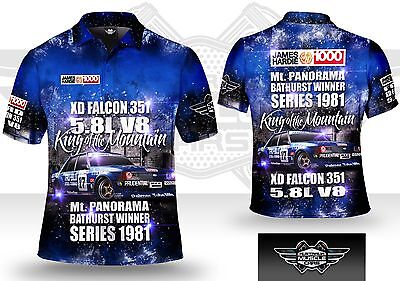 Musclecar Bathurst Winner XD Falcon 1981 True blue Mens polo shirt