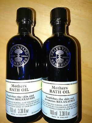 Neals Neal's Yard Mother's Bath Oil 2 x 100ml New and Sealed BBE 09/17 RRP £30