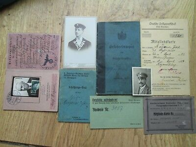 100% original German ww2 & before documents - wehrmacht Luftwaffe